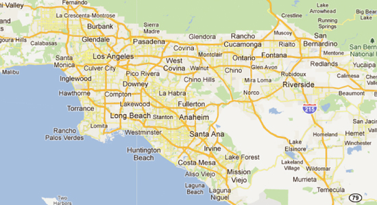 Los Angeles And Orange County Map